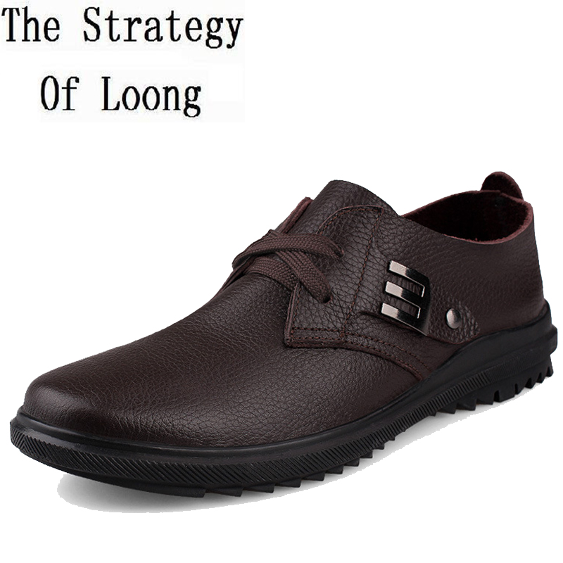 Genuine Leather Men Shoes 2017 New Arrival Spring Summer Autumn Fashion Comfortable Shoes Casual Mens Shoes Plus Size 45 46 new authentic quality fashion casual men s shoes handmade genuine leather oxfords shoes for spring summer plus size 38 47