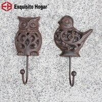 Art Designer Customized European Style Ancient Cast Iron Hollow Wall Hanging Hook Mural Coat Hardware