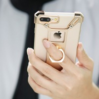 Phone Case Manufacturing Silicone Luxury Aluminum Metal Bumper Case Cover For IPhone 7 Anti Gravity 360