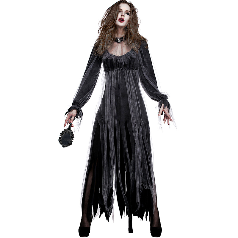 Halloween Graveyard Zombie Bride Costumes Scary Gothic