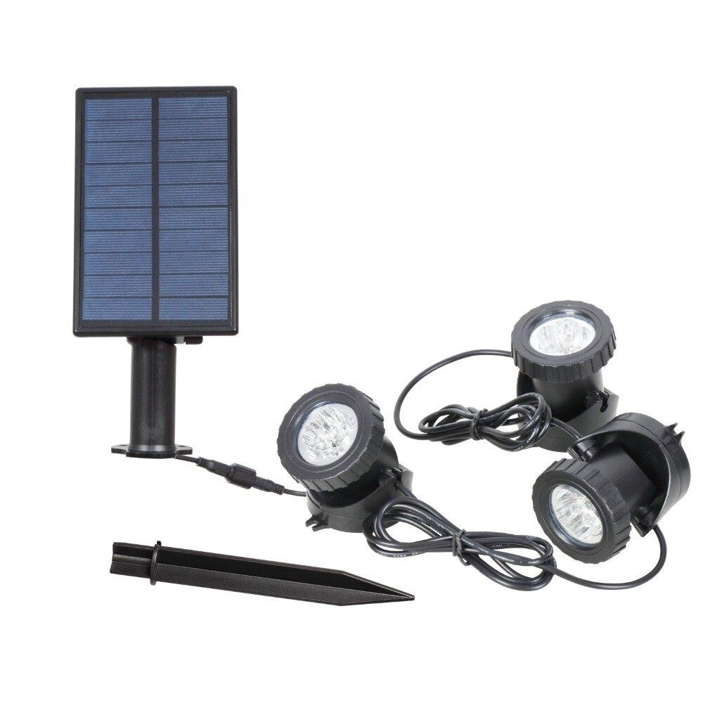 T-SUNRISE солнечные 3 Огни наружное освещение Солнечный свет RGB Изменение светодио дный светодиодные лампы Пейзаж прожектор для сада двор