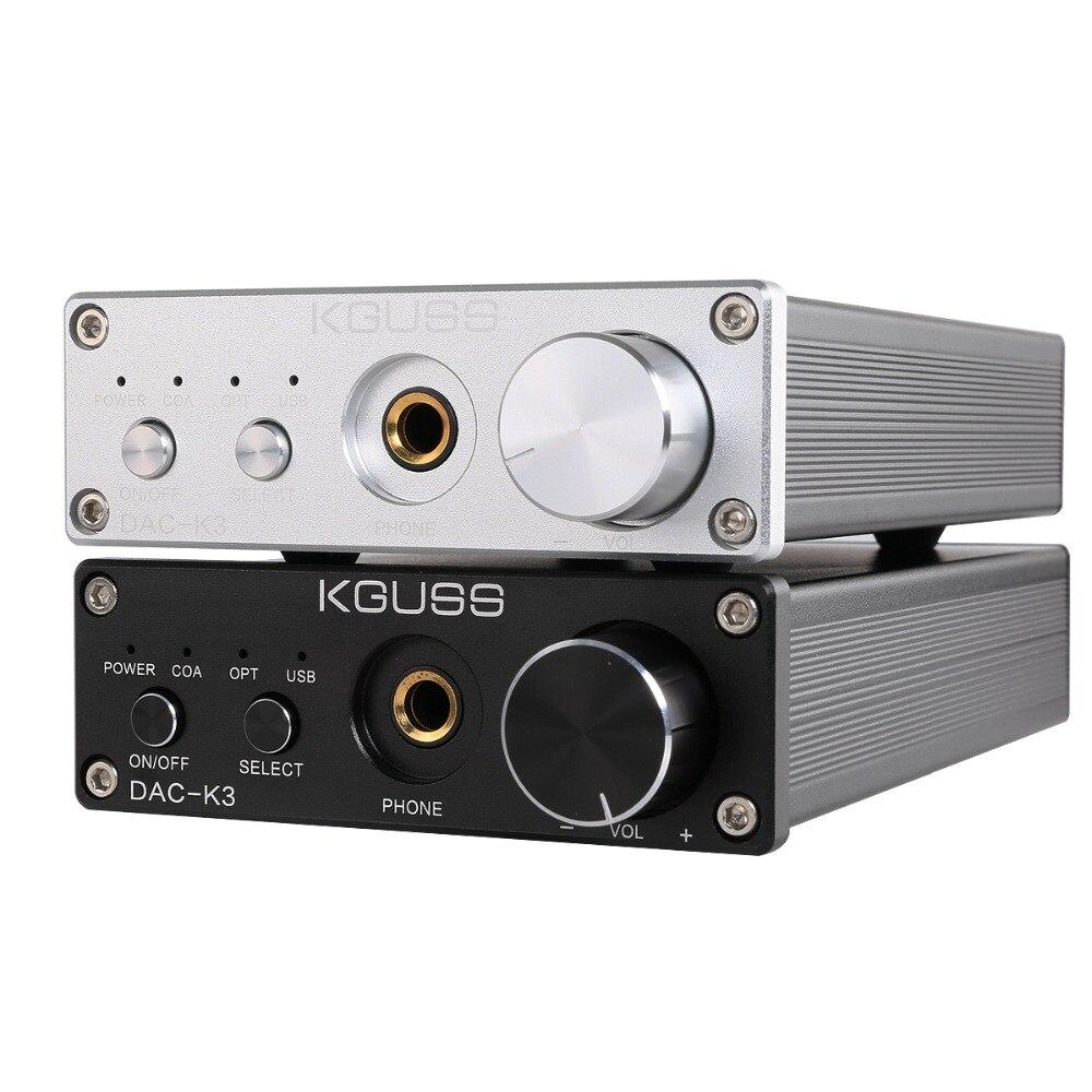 KGUSS DAC-K3 TPA6120 2.0 MINI HIFI USB DAC décodeur Audio casque amplificateur 24BIT 192 KHz OPA2134 AMP DC12V