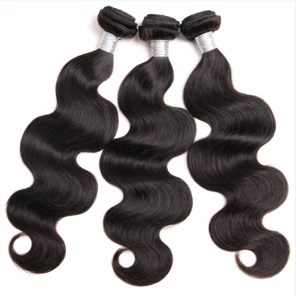 Shireen Hair Brazilian Remy Hair Extension 3 Bundles Brazilian Body Wave Human Hair Bundles Natural Color Tissage Bresiliens