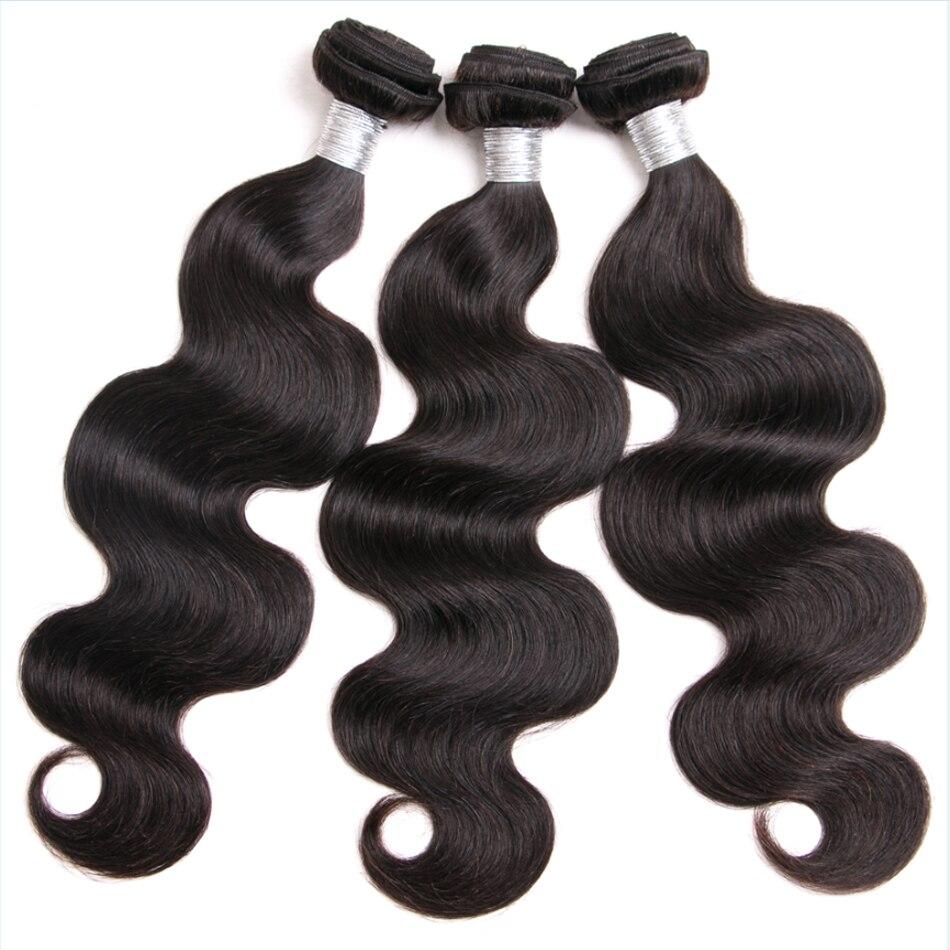 Shireen Hair Brazilian Virgin Hair Extension 3 Bundles Brazilian Body Wave Human Hair Bundles Natural Color tissage bresiliens