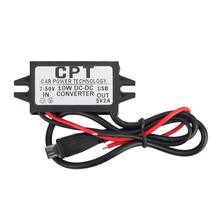 DC 7V to 50V Car Converter Step Down 2A Micro USB Panel Mount Charge CPT Socket Car-styling