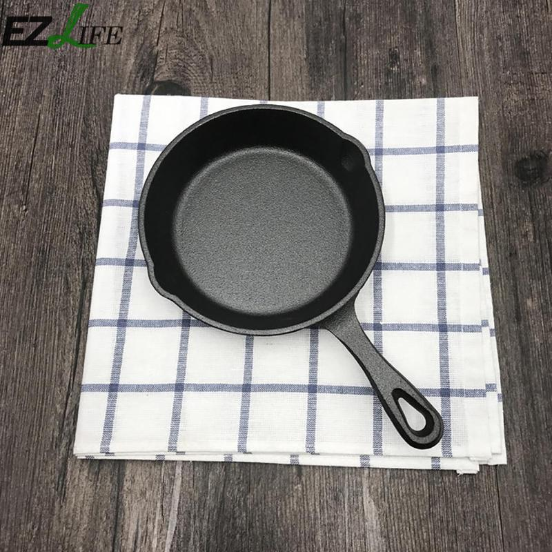 Mini Cast Iron Skillet Fry Pan Non-stick Steak Frying Pan Cookware Without Lid Kitchen Cooking Tools 16cm 20cm NPY9291