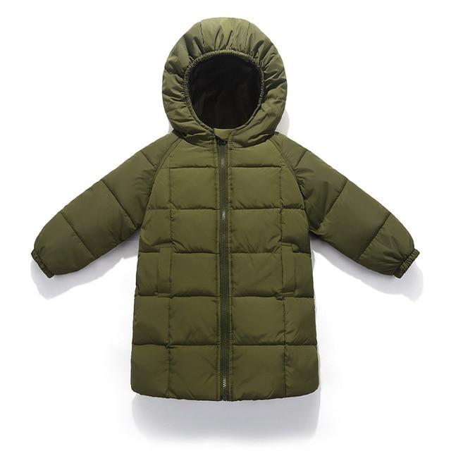 bc2e4463a6e1 Children Jacket Outerwear Boys Girls Autumn Warm Down Hooded ...