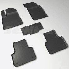 Для Audi Q7 2015-2019 резиновые коврики в салон автомобиля 5 шт./компл. Seintex 86854