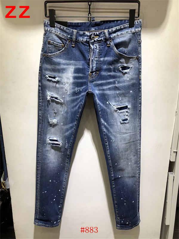 F.N.JACK New 2019 Fashion Men Jeans Stylish Ripped Jeans for Men Pants Skinny Jeans men Slim Straight Hip Pop Denim