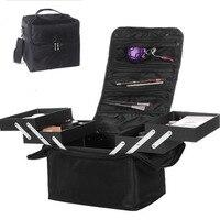 Organizador Fashion Women Makeup Organizer Large Capacity Travel Multilayer Clapboard Cosmetic Bag Case Beauty Salon Tool