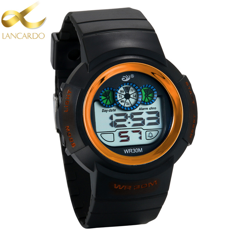 Watches Responsible Hot Waterproof Children Watch Boys Girls Led Digital Sports Watches Plastic Kids Alarm Date Casual Watch Select Gift For Kid