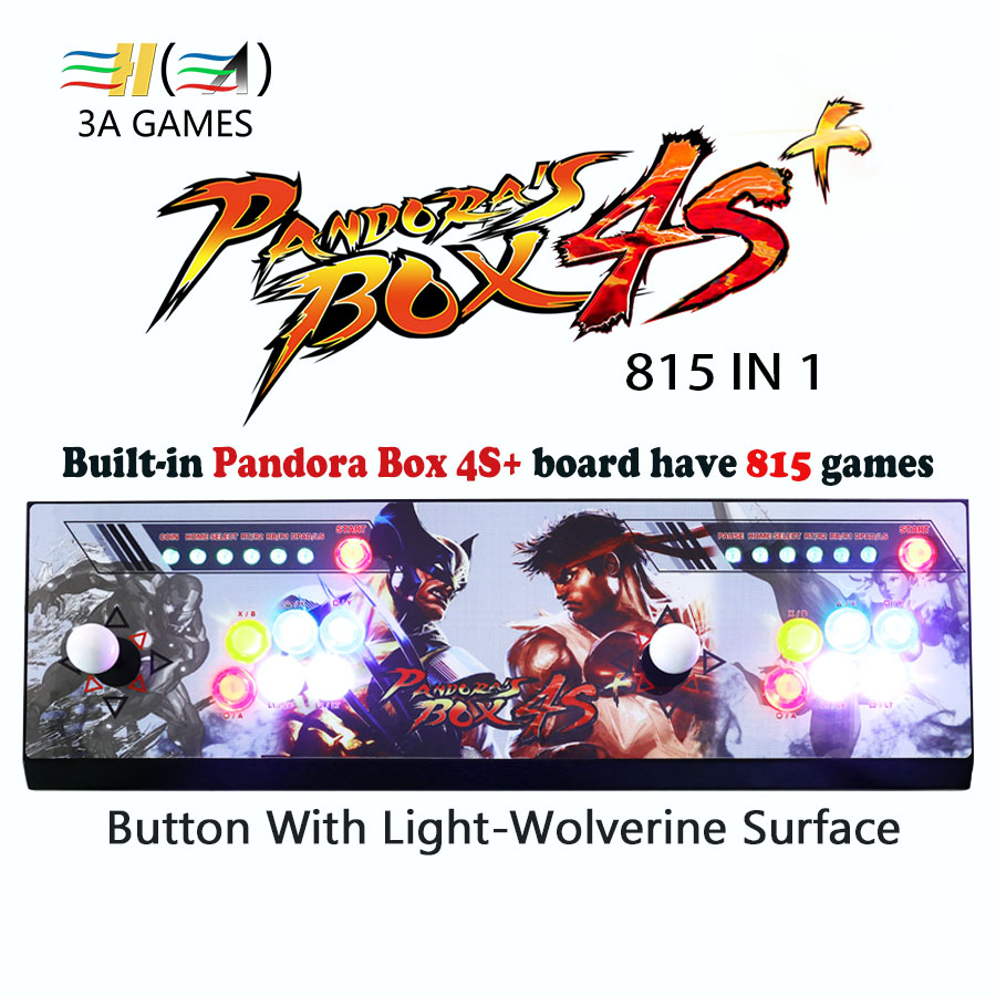 Built-in pandora box 4S+ 815 in 1 games arcade joystick buttons usb control console kit game consoles to tv pc arcade control hdmi vga pandora box 4s arcade game board 815 in 1 with 28 pin harness for arcade mechine diy arcade kit