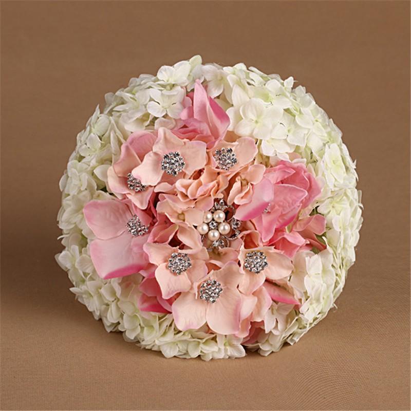 New Artificial Wedding Bouquets Crystal Bridal Bouquet Wedding Bouquet Wedding Flowers Bridal Bouquets Hydrangea Flower Bouquet (3)