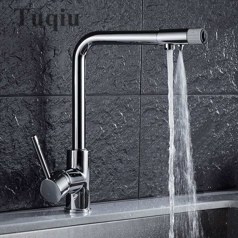 Free Shipping Europe style total brass chrome kitchen faucet swivel kitchen mixer tap,360 degree direct drink water kitchen tap newly arrived pull out kitchen faucet gold sink mixer tap 360 degree rotation torneira cozinha mixer taps kitchen tap