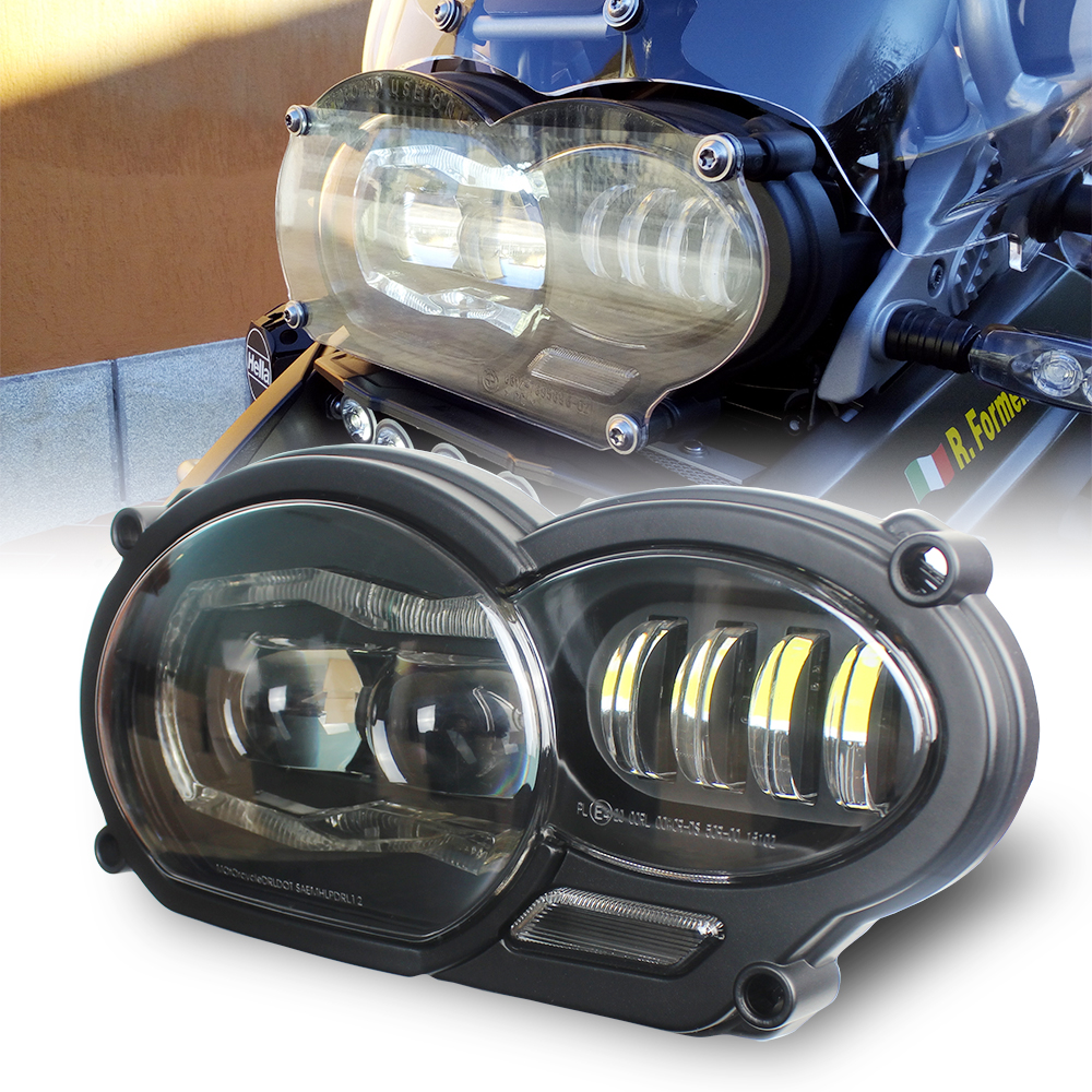 Motos Accessories LED Headlight Assembly with DRL Original Complete for BMW R 1200 GS 2008 2009 2010 2011
