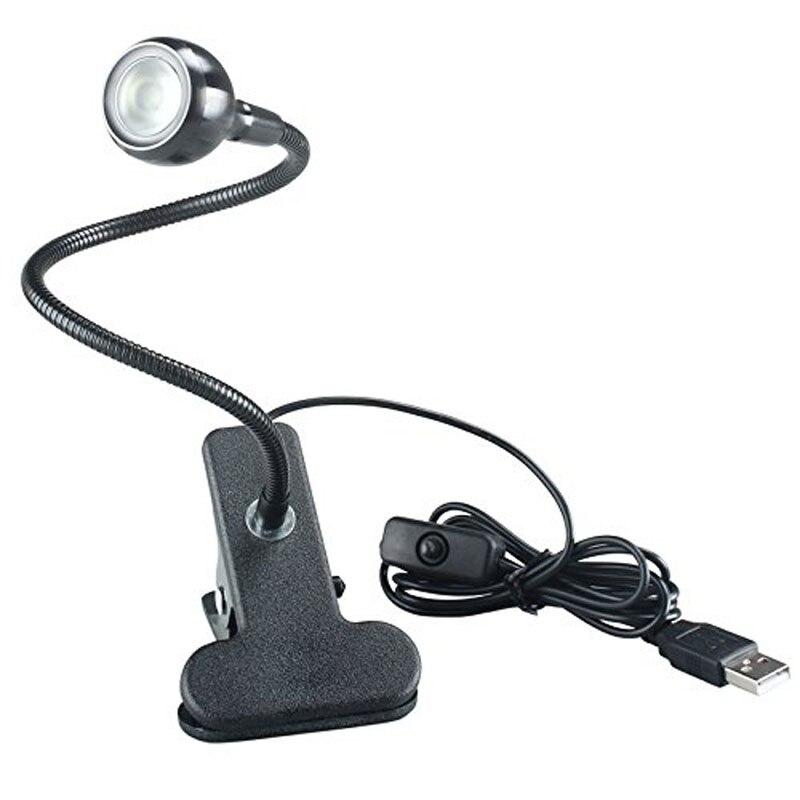 USB LED Schreibtisch Lese Lampe Clip Auf Bett Neben Studie Tisch Licht Einstellbar LB88