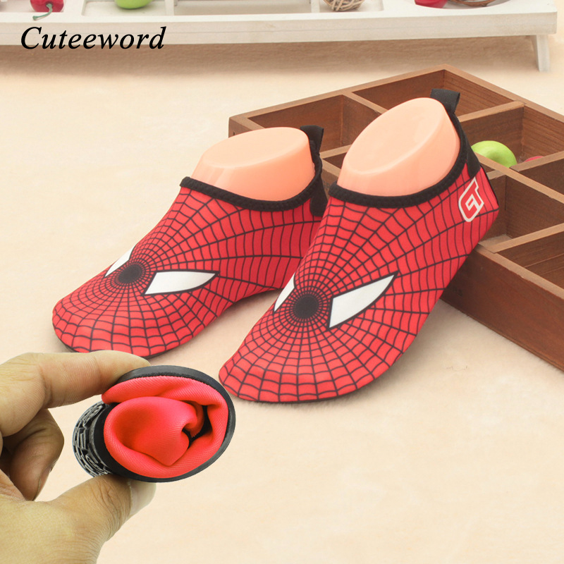 Fashion Spider Boys Shoes Children Quick Drying Breathable Swim Girls Slip Skin Care Shoes Cute Cartoon Kids Beach Shoes Cheap