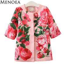Menoea 2017 Hot Sale Autumn Girl Coats and Jackets Kids outerwear Children Jackets for Girls Clothes Cartoon Print Jackets(China)
