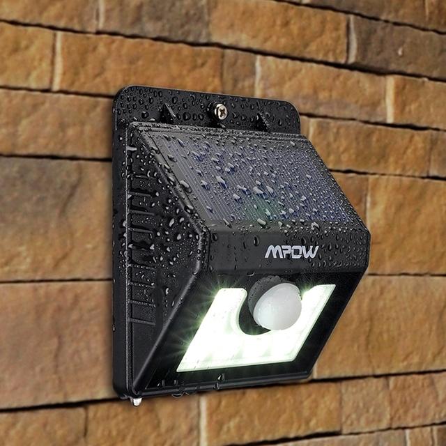 Mpow MSL6 2 Packs Weatherproof Solar Light 8 LED Lamp Security Motion Sensor Light Garden Lamp with Three Intelligent Modes