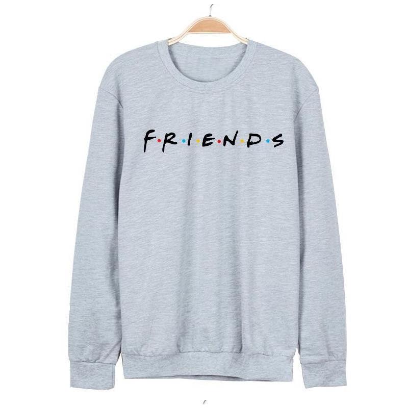 Brand New 19 Womens 5 Colors Letters FRIENDS Print Long Sleeve Hoodie Sweatshirt Ladies Slouch Pullover Jumper Tops S M L XL 10