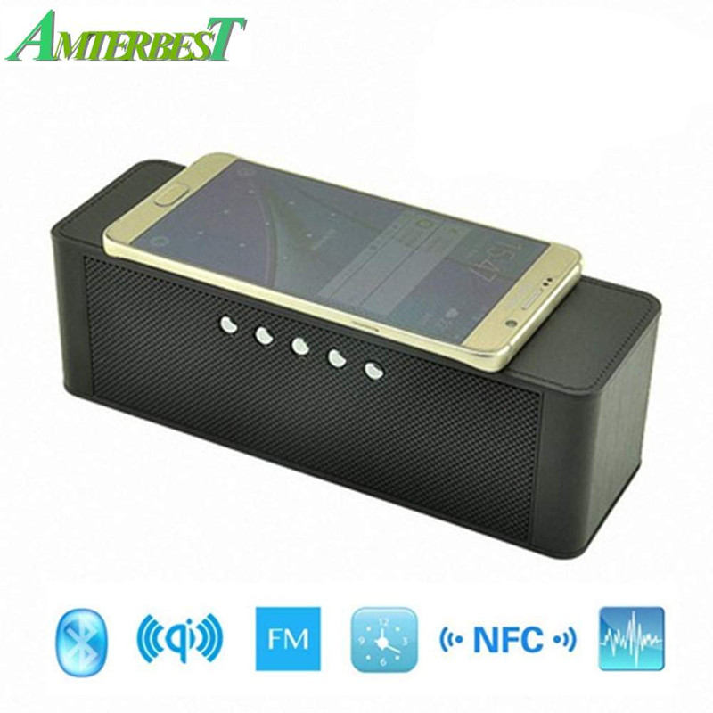 AMTERBEST Portable Qi Wireless Charger Bluetooth Speaker with NFC, FM Radio, TF Card Slot, Hands Free Stereo Speaker for QI купить в Москве 2019