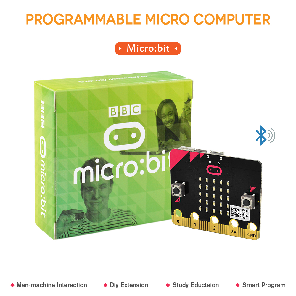 Original BBC Micro:Bit Main Board NRF51822 Bluetooth for kids starter to programming/support windows,iOS etc ...