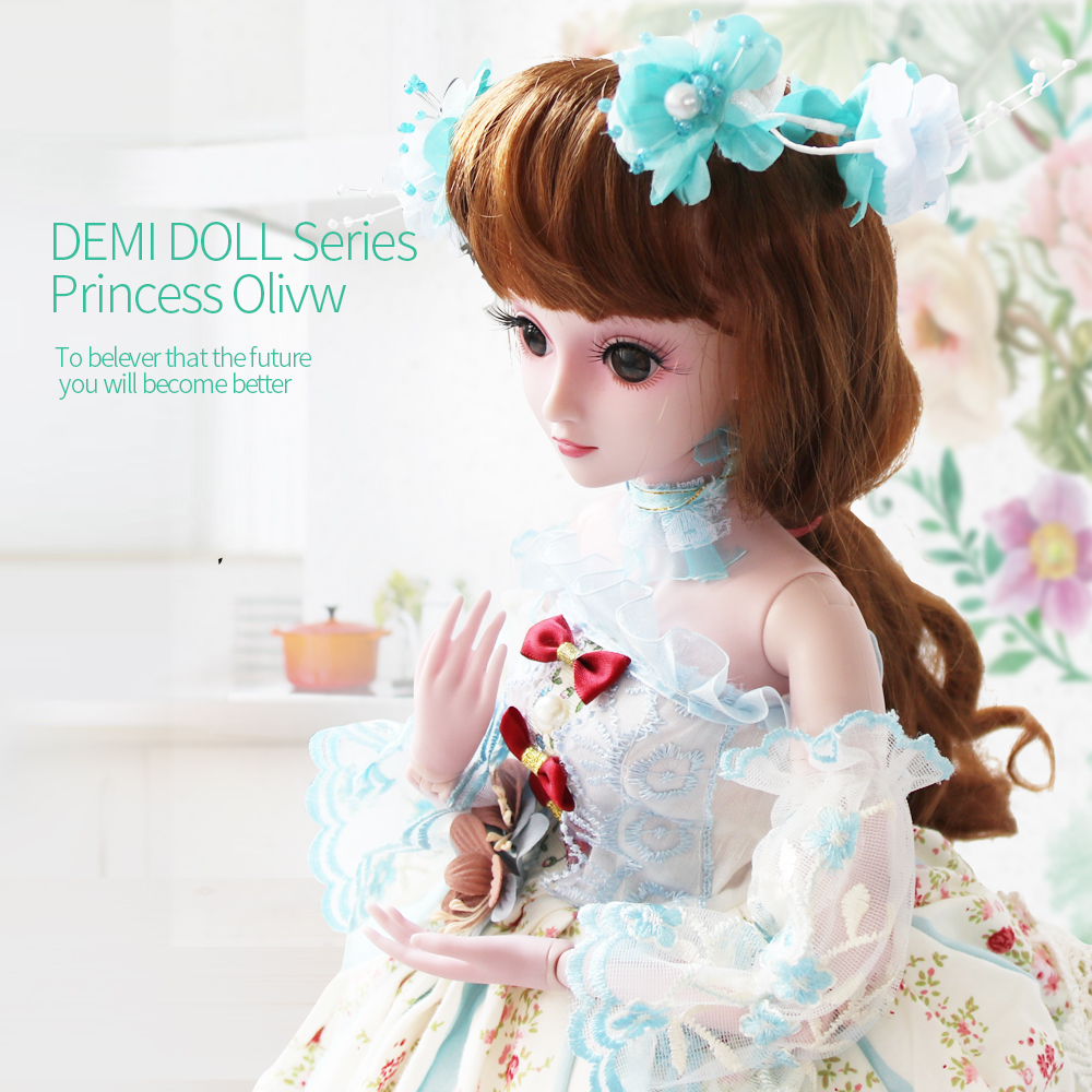 UCanaan 23.6 1/3 BJD Doll Girl Cosplay SD Dolls 19 Ball Jointed Action + Handmade Makeup + Wig Clothes Shoes Children Toys цена