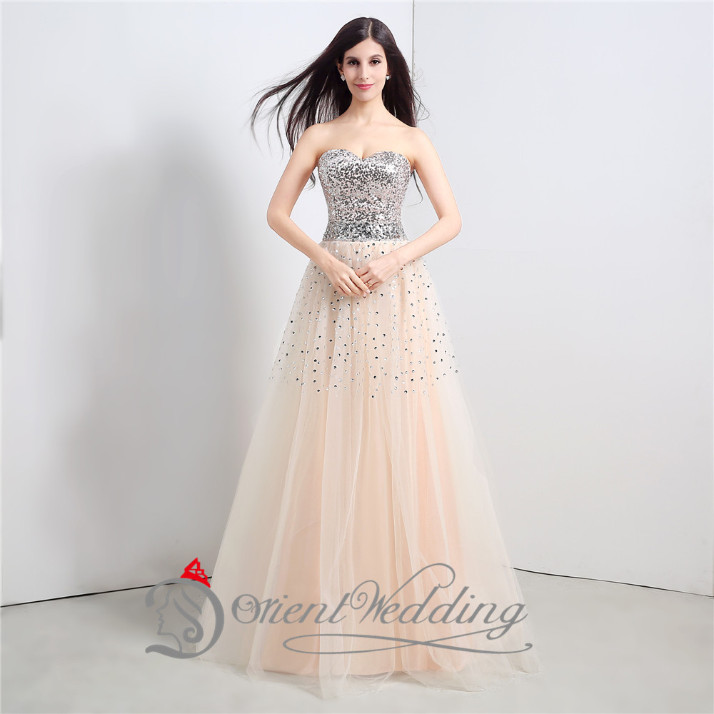 b2844282c2b Sexy Bling Crystal Sweetheart Tulle Lace up Long Elegant Prom Dresses 2015  Cheap With Rhinestones vestidos de baile galajurken