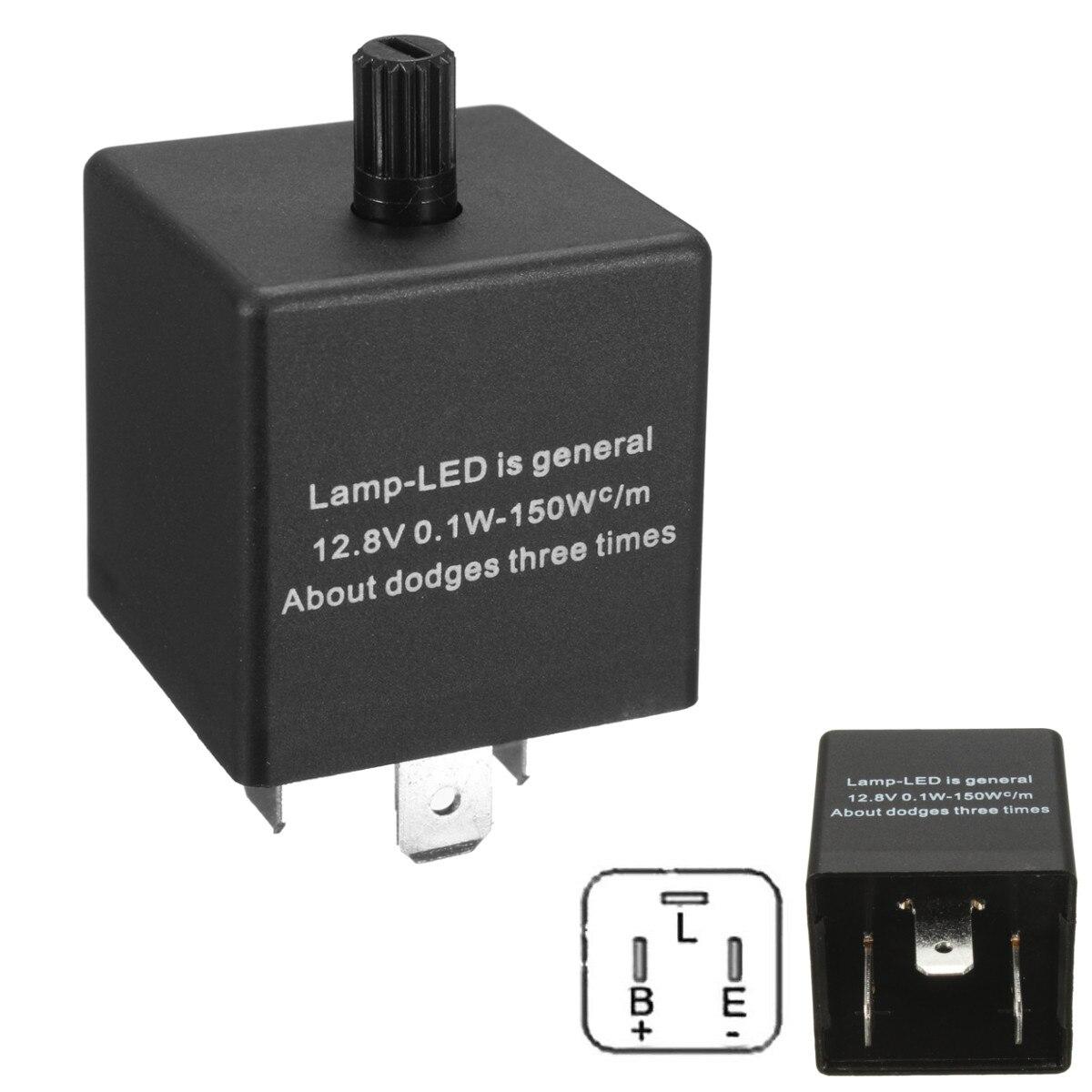 3 Pins Electronic LED Relé Intermitente Regulable Para El Coche Luz de Señal de