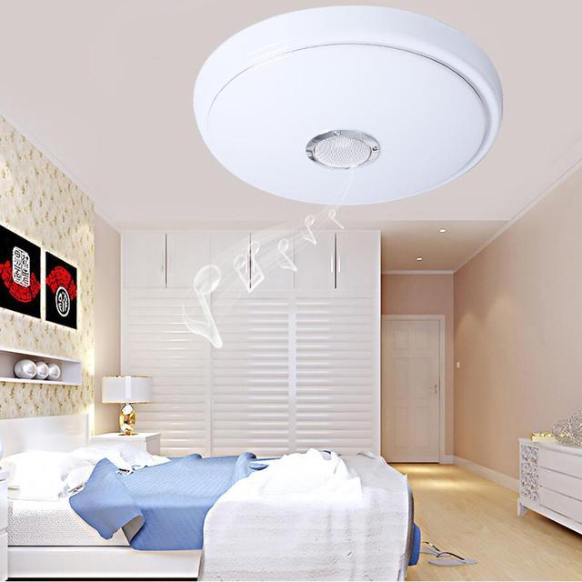 Deckenleuchte Wohnzimmer Led | Moderne Led Deckenleuchten Bluetooth Musik Lampen High Power Cold