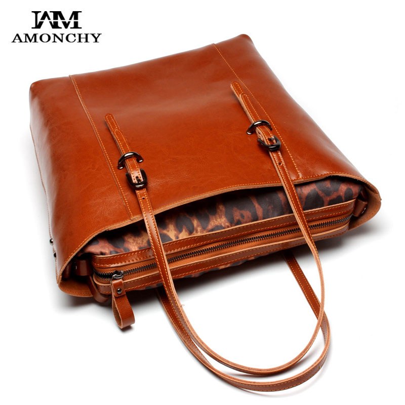 Luxury Brand Genuine Leather Women Handbags Shoulder Bags Europe And American Women Tote Bag Real Leather Shopping Bags For Lady 2017 new arrival designer women leather handbags vintage saddle bag real genuine leather bag for women brand tote bag with rivet