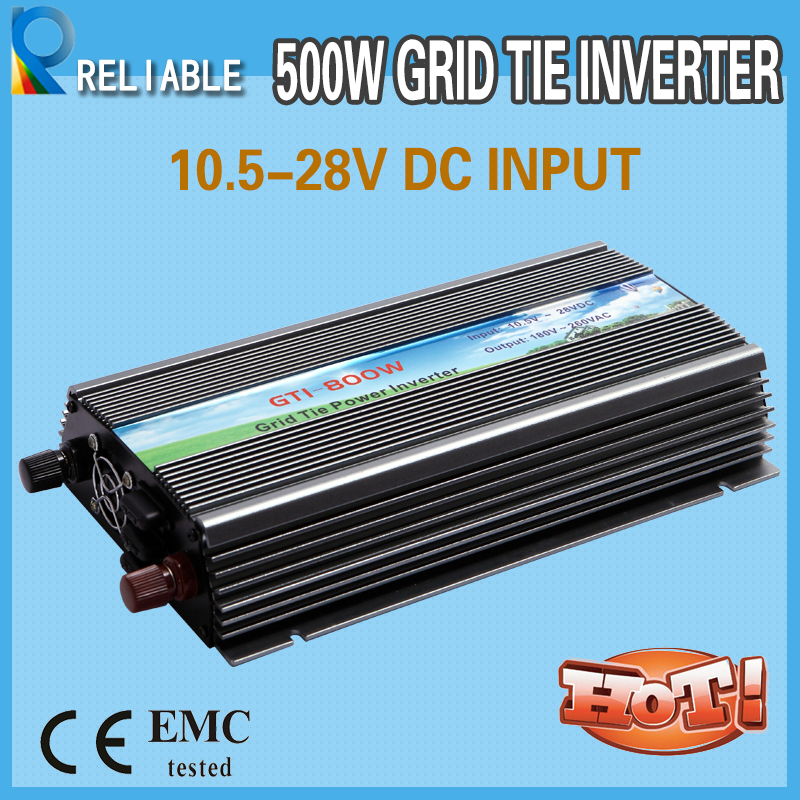 800W solar power  pure sine wave Grid Tie Inverter 10.8-28vdc input, 220vac/230vac/240vac output on grid voltage converter
