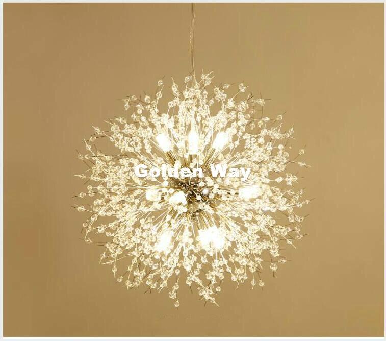 69090ce32b1 Crystal Pendant Lamp D60cm Golden Chrome Pendant Lights Dining Room ...
