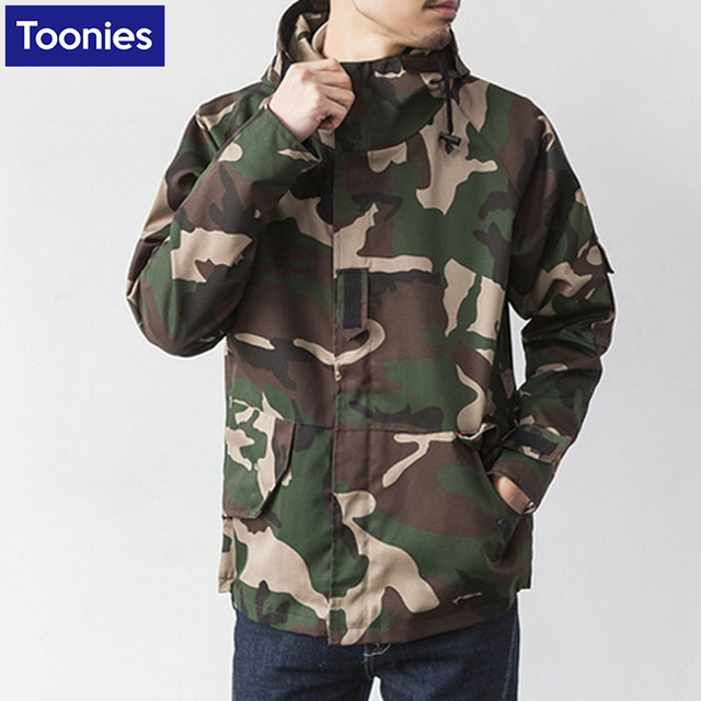 Autumn Men's New Hooded Camouflage Jacket 2016 New Casual Fashion Men Long Sleeve Slim Outerwear Coat Autumn Male Slim Jackets