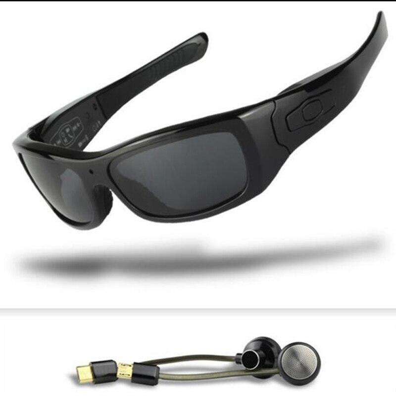 FOOANG HD caméra lunettes de soleil DV lunettes Bluetooth casque sport ski Conduite criminalistique enregistreur polarisées lentille mini caméscopes