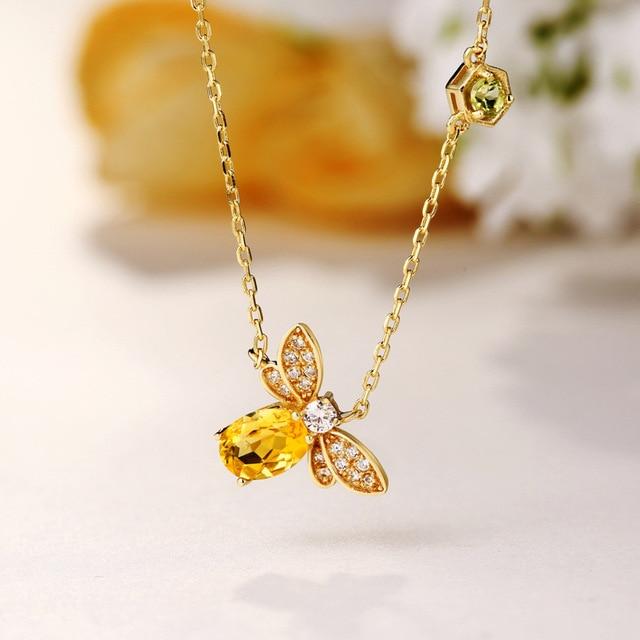 Fine Jewelry Womens Genuine Citrine Gold Over Silver Necklace Ek9HJgX