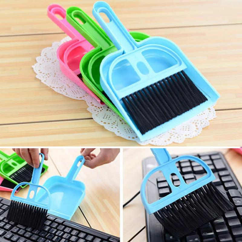 High quality high elasticity wire brush 1 PCS Mini Desktop Sweep Cleaning Brush Small Broom Dustpan Set Cleaning Tools QL