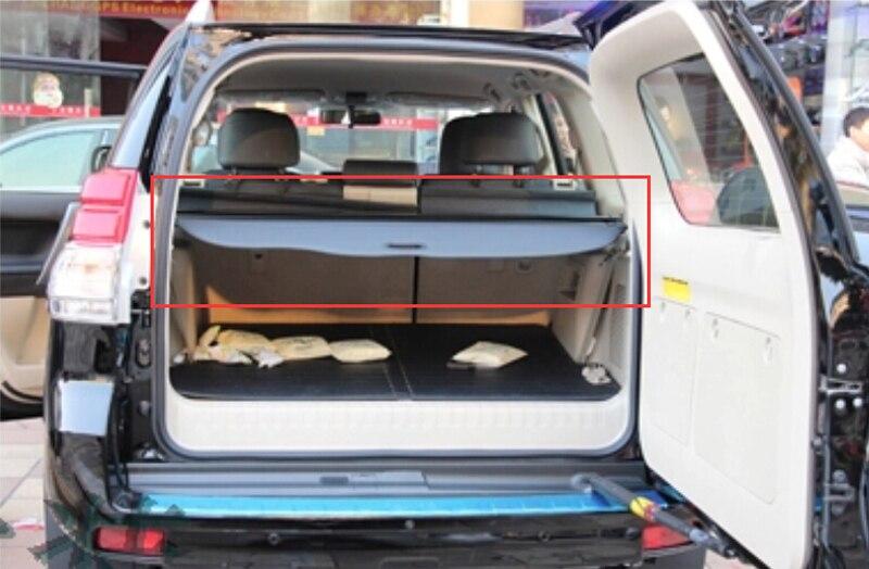 Aluminum Black rear trunk shade shield tail curtain cargo cover for Toyota Prado fj150 2010 2011 2012 2013 все цены