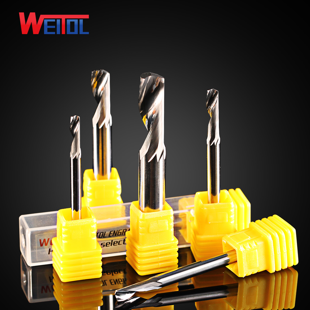 Weitol 1pcs N free shipping 4mm aluminum alloy three flutes end mill metal carving tool cnc milling cutter weitol 5a series  6mm  two flutes