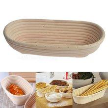 Oval Cesta De Mimbre Banneton Brotform Masa Oval Pan Pan Larga Proofing Proving Basket Mould Home Baking Pastry Herramientas 28 cm