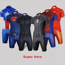 Superhero cycling jersey skin suit