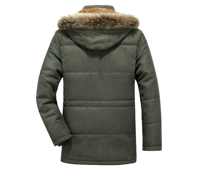 Thick Warm Parka Men New Hot Long Winter Jacket Men Hooded Military Cargo Mens Winter Coat Plus Size M-5XL 7