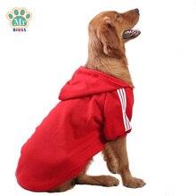 Фотография Sports Large Dog Clothes Soft Cotton Big Dogs Hoodies Sportswear for Golden Retriever Labrador 2XL-6XL Red Black
