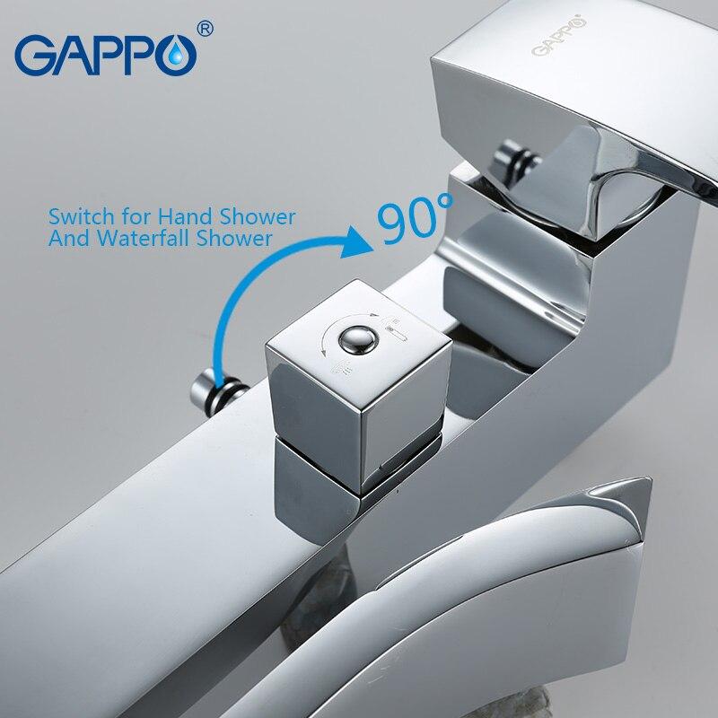 Image 5 - GAPPO bathtub faucet wall mounted bathroom shower faucet set Bath Shower bath mixer taps waterfall stainless shower head showermixer mixermixer headmixer tap -
