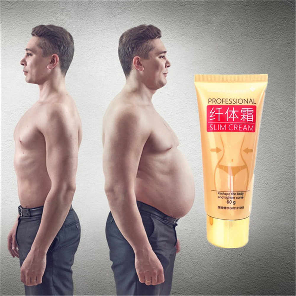 Крем для тела для похудения, китайский травяной потеря веса, сжигание жира, 60 г/бутылка, удивительный эффект похудения, гель для похудения