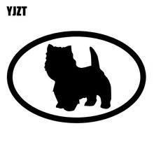 YJZT 15,2*10CM West Highland Terrier perro Animal pegatina lindo divertido coche decorativo de estilismo calcomanías C6-1208