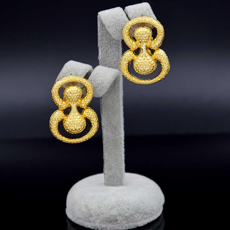 Bijoux ensoleillés Dubai résultats de bijoux ensembles de bijoux pour femmes cadeaux boucles d'oreilles pendentif collier oeuf forme bijoux ensembles pour mariage