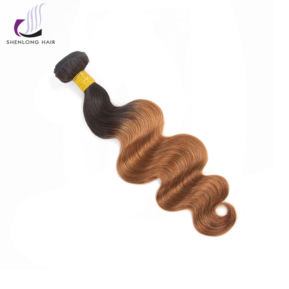 SHENLONG HAIR Peruvian Body Wave Ombre Bundles Human Hair 1Pc Bundles Non Remy Human Hair T1B/30 Color Free Shipping ...