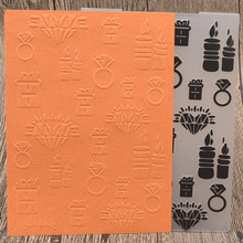 LOVE Ring Plastic Embossing Folders for Valentine's Day Wedding Card Making DIY Scrapbooking Paper Embossing Craft Template