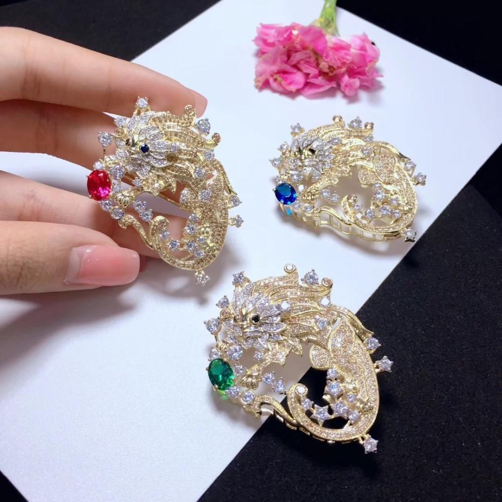 Bijoux trouvailles et composants 925 argent sterling avec zircon cubique Leo fermoir et broche double usage 12 constellation mode